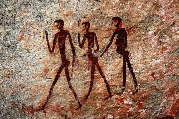 Наскальный рисунок. Намибия