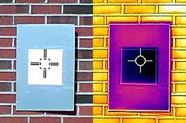 Съёмка нового белого покрытия в инфракраксном свете. Оно практически не отражает свет. Источник изображения: Purdue University