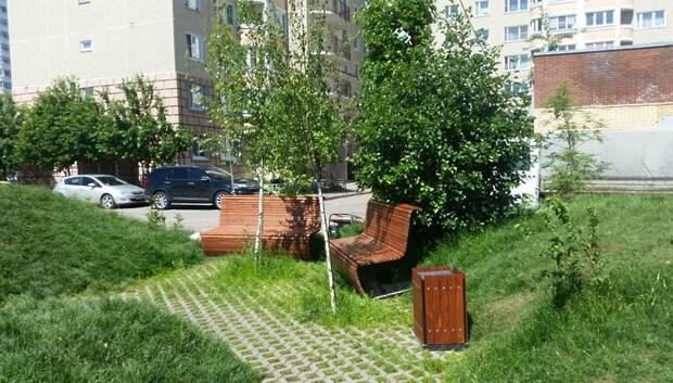 Садовые диваны и урны появились в саду камней Памяти и Славы в Подольске