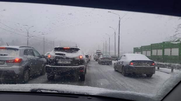 «Город стоит»: метель парализовала движение в Томске