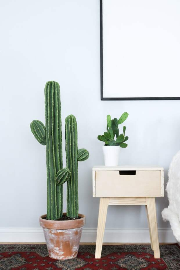 Никто не догадается, что это ненастоящие кактусы и не сможет угадать, из чего они сделаны!