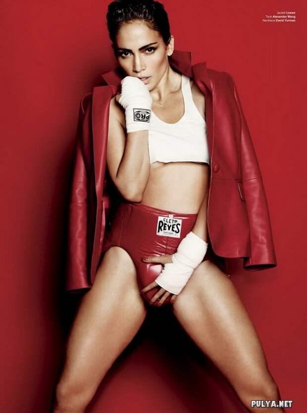 Дженнифер Лопес в роли боксера для V Magazine