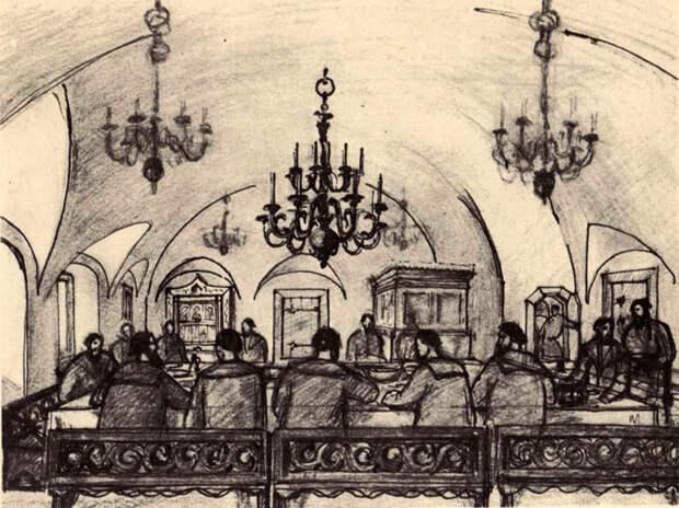 Псков, Рисунок-реконструкция Ю.П.Спегальского