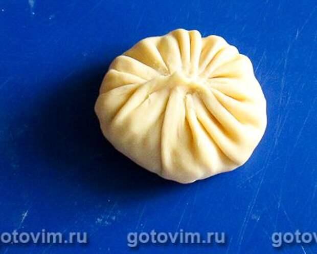 Манты с картошкой и солёным салом, Шаг 09
