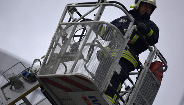 Баня сгорела в СНТ «Ордынцы» Подольска