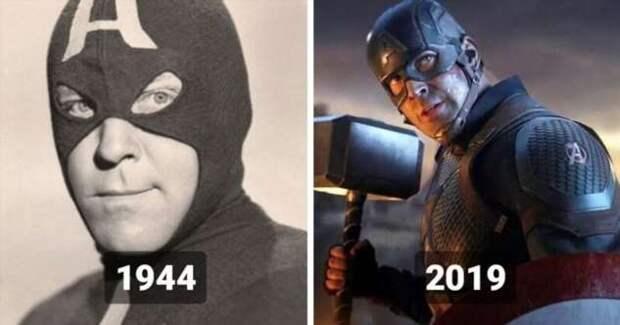 Как выглядели супергерои и суперзлодеи в ранних экранизациях (15 фото)