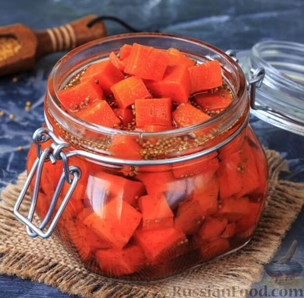 Острая морковь в горчичном масле