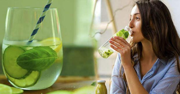 Огуречный напиток для ухода за фигурой и детоксикации организма