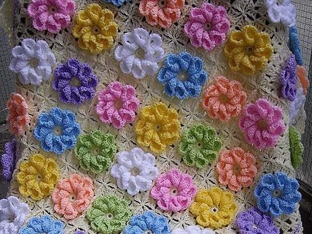 Плед с цветочками!