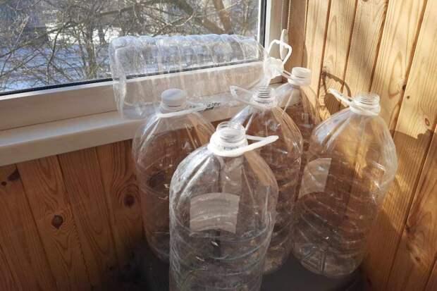 Что сделать с бутылками от воды, если к весне их слишком много накопилось