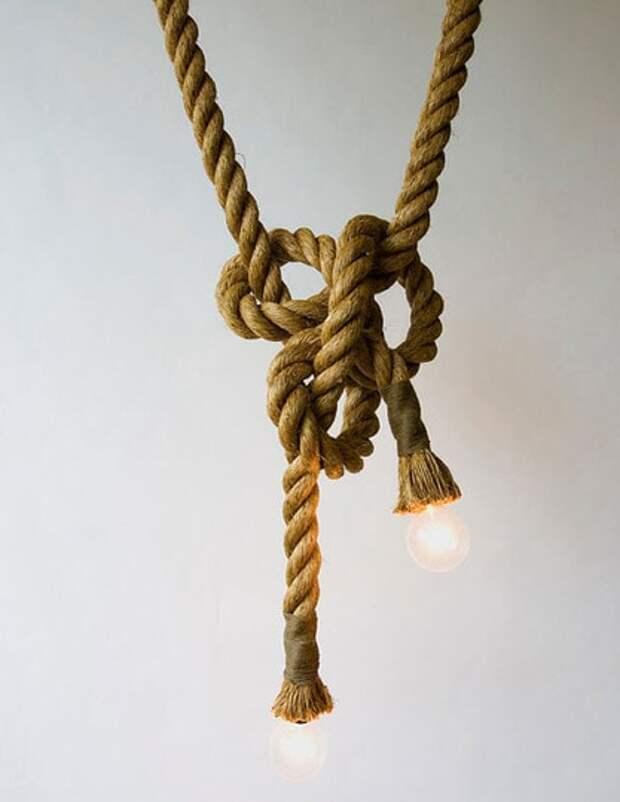 Творческое преображение мебели простым шпагатом и верёвкой