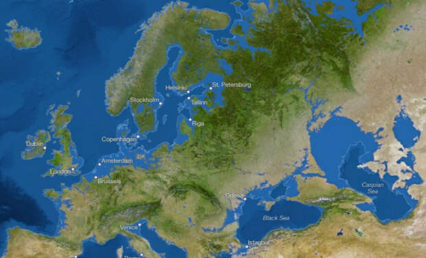 Какие города России исчезнут под водой, если растает весь лед мира: карты ученых