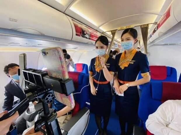 В Китае осуществлен первый полет самолета с высокоскоростным интернетом на борту