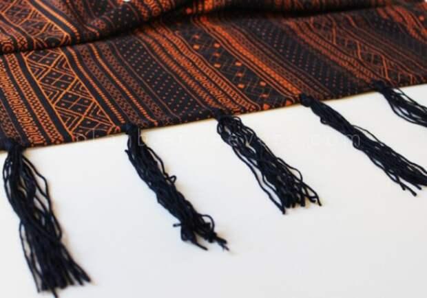 Жилет из шарфа diy