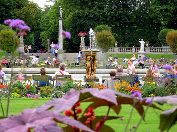 Франция. Париж. Люксембургский сад. (HarshLight)