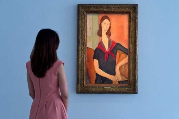На лондонских торгах аукционного дома Sotheby's была выставлена на продажу картина Амедео Модильяни, на которой изображена возлюбленная художника Жанна Эбутерн.\ Фото: yandex.ua.