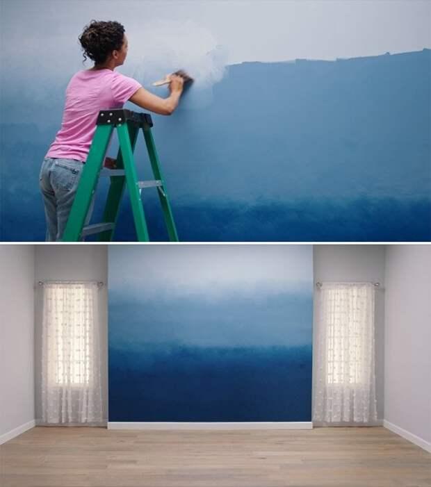 Очень простой способ создать акцентную стену в комнате