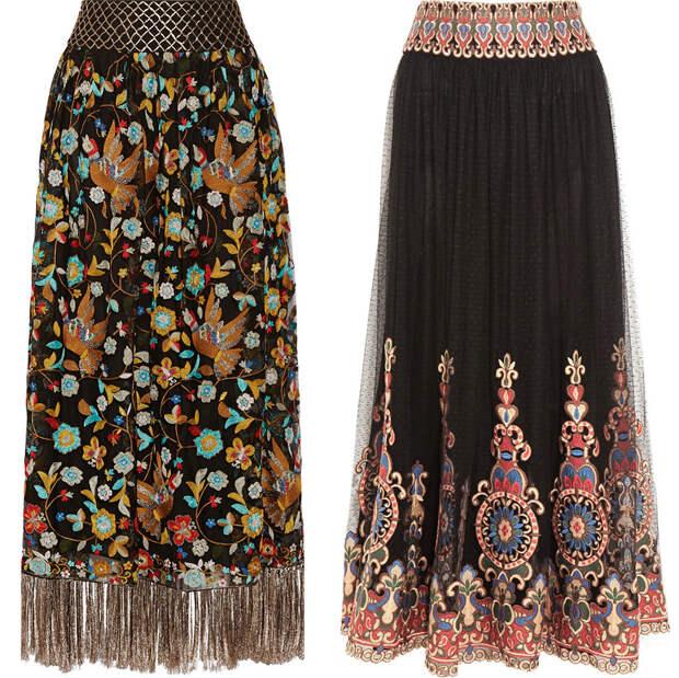 Модные длинные юбки 2016