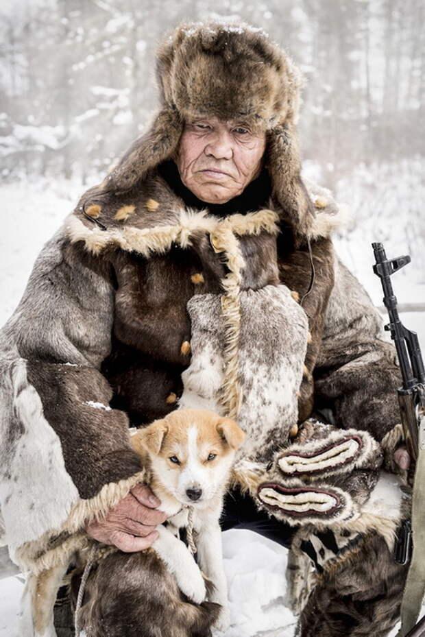 Охотник-оленевод народности эвенки, Южная Якутия.