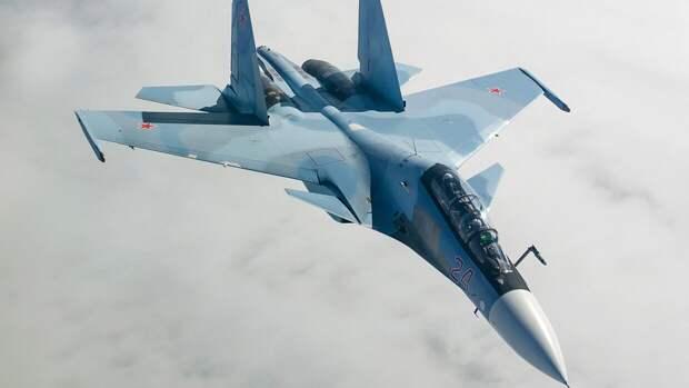 В Забайкалье прошли учения экипажей истребителей Су-30СМ полка ВВО