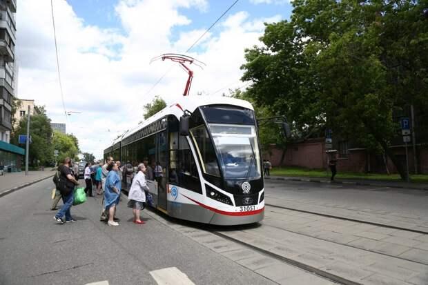 В Южном Тушине запустят новые низкопольные трамваи