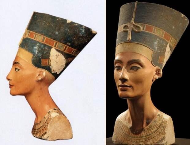 Глава Нефертити. Примерно 1450-1310 до н. э. / Фото: www.spiritualpilgrim.net