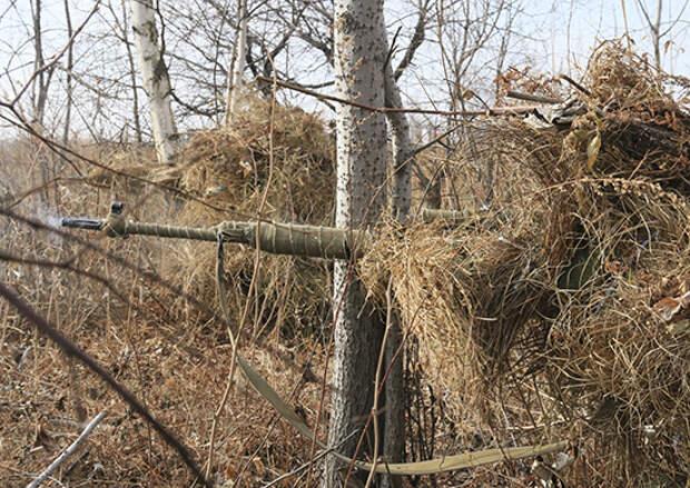 В Бурятии снайперы ВВО осваивают новую тактику действий по маскировке и ведению боя