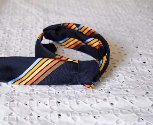 Повязка из галстука Diy