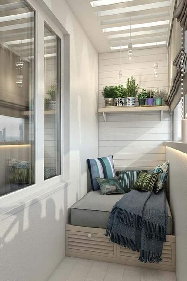 Декорирование балкона в квартире - 12 идей для вдохновения на ремонт!