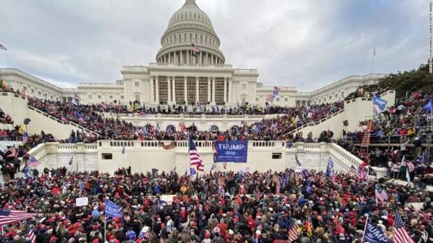 Фото дня. Народная инаугурация Трампа. 6 января 2021 года. Вашингтон