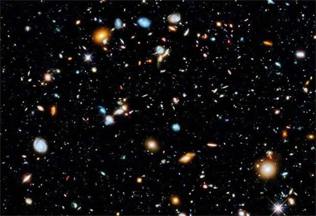 Сегодня ученые оценивают количество галактик в наблюдаемой Вселенной в