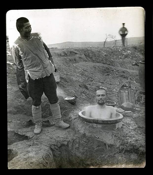 Японские военные бани во время русско-японской войны, 1904 Весь Мир, история, фотографии
