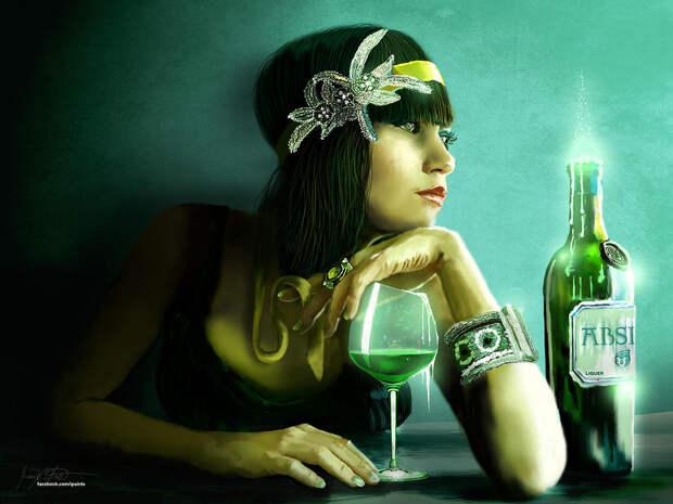 Капли абсента: история алкогольного напитка