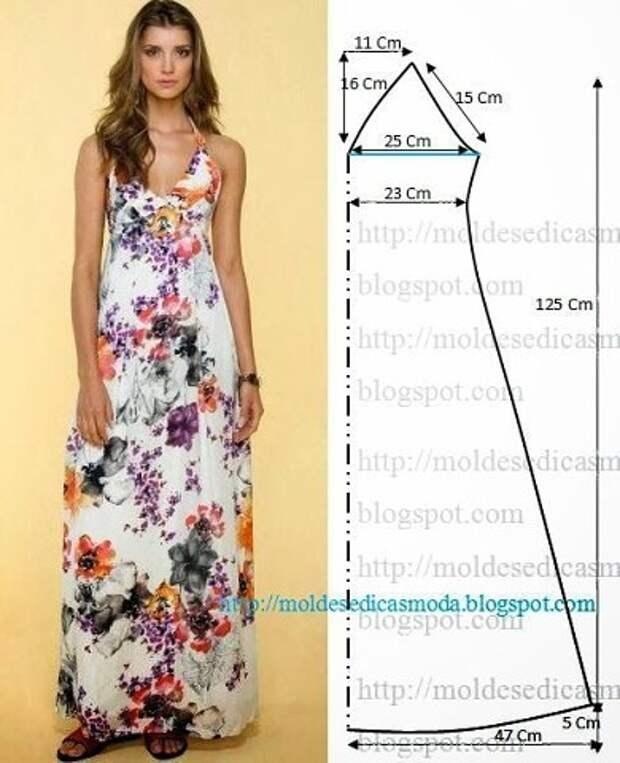 Для тех, кто любит платья в пол!)