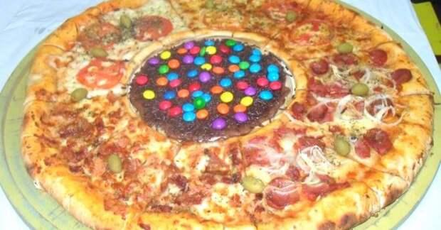 пицца с конфетами