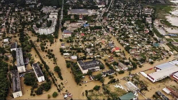 Потоп в Керчи. Вид с воздуха
