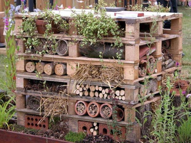 Креативная система для хранения дров. | Фото: Pinterest.