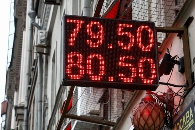 Курс евро упал ниже 87 рублей