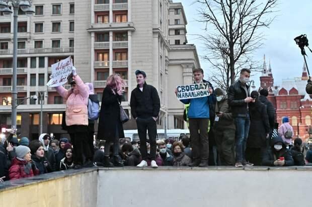 МВД подсчитало число участников незаконного митинга в Москве
