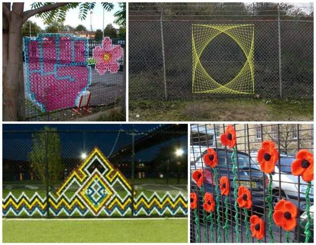 Дачные уловки: как украсить сетку-рабицу Фабрика идей, дача, забор, сетка Рабица, украшение