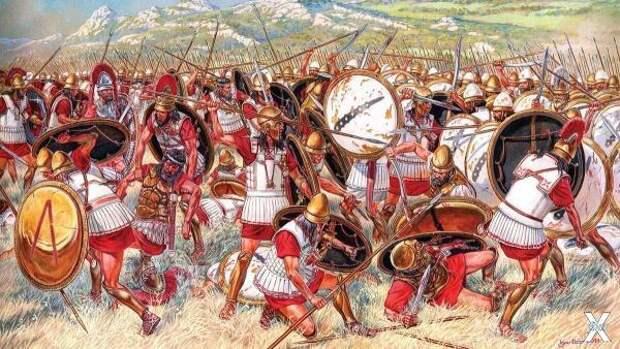 Одно из сражений Пелопоннесской войны...