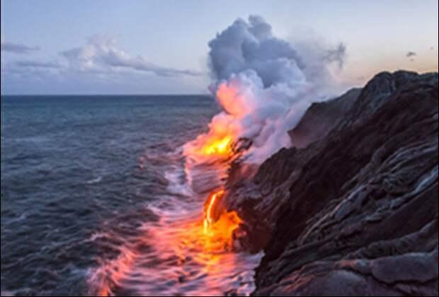 Возгорание газов в Черном море
