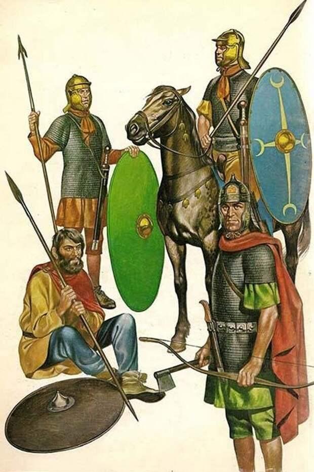 Ауксиларии, союзники Рима. Современная иллюстрация.