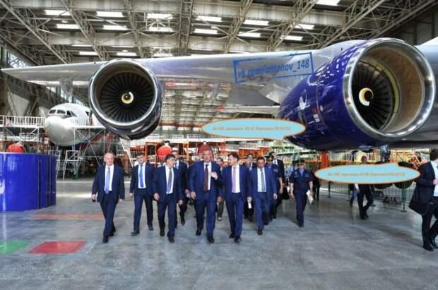 Последние 4 самолета Ан-148-100Е находятся в цехе окончательной сборки ВАСО
