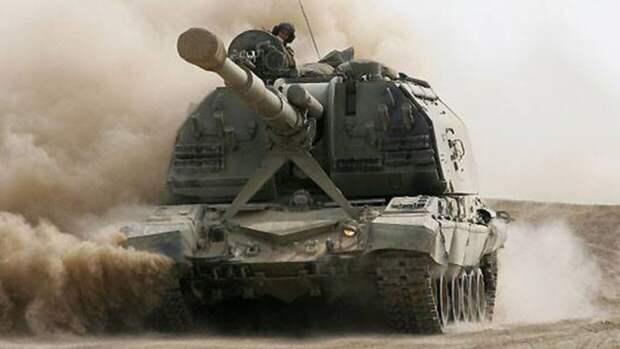 Гаубица «Мста-С» провела успешные стрельбы при взаимодействии с беспилотником «Орлан»