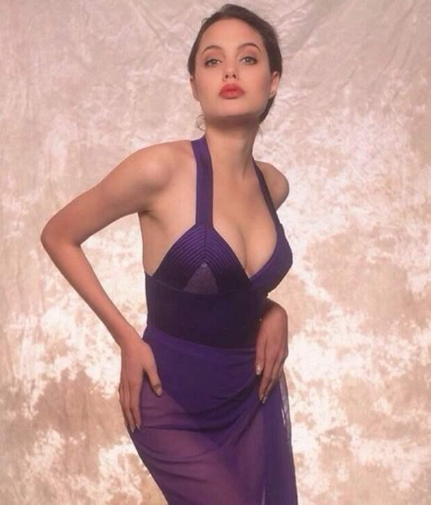 Фотосессия 16-летней Анджелины Джоли, 1991 г.