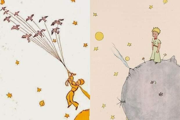 Иллюстрации Антуана де Сент-Экзюпери к сказке «Маленький принц»