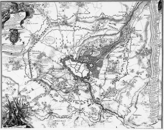 План осады Лилля в 1708 году. commons.wikimedia.org - На секретной службе Его Величества | Warspot.ru