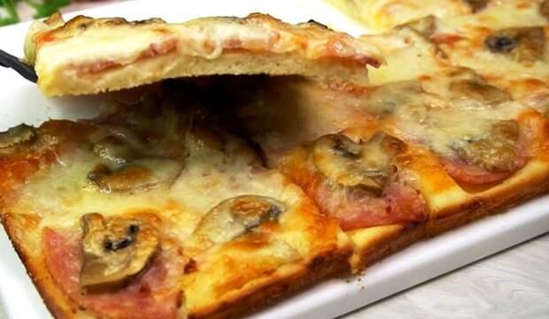 Пирог «Дежурный» из жидкого теста на кефире: все смешал и в духовку. Простой и быстрый рецепт