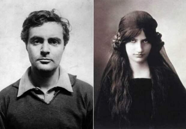 Слева: Модильяни. \ Справа: Последняя любовь Амедео Модильяни - Жанна Эбютерн. \ Фото: picpen.chosun.com.